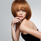Cheveu rouge. Image de haute qualité. Photographie stock libre de droits