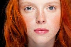 Cheveu rouge ondulé Photo libre de droits