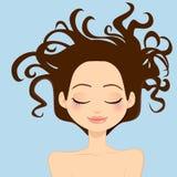 Cheveu sauvage de femme Photographie stock libre de droits