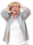 Cheveu violent de femme à l'extérieur images stock