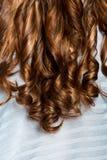 Cheveux bouclés Photo stock