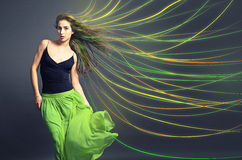 Cheveux colorés images libres de droits