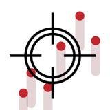 Cheveux croisés avec les trous de mine d'arme à feu de saignement. Illustration de Vecteur