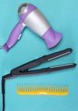 Cheveux dénommant des outils et des accessoires Photos stock