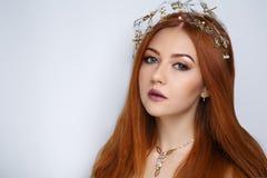 Cheveux d'orange de femme photographie stock libre de droits