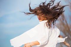 Cheveux dans le mouvement Photo libre de droits