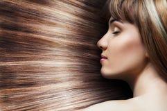 Cheveux de beauté Photographie stock libre de droits