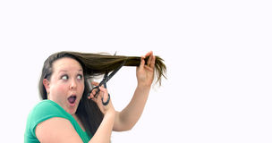 Cheveux de Cuting photos libres de droits