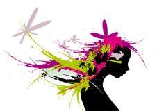 cheveux de femmes illustration libre de droits