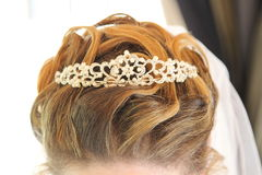 Cheveux de jeune mariée Photos libres de droits