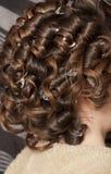 Cheveux de jeune mariée Image libre de droits