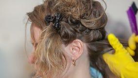 Cheveux de kératine se redressant à la maison clips vidéos