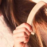 Cheveux de peignée et de tractions photo libre de droits