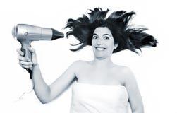Cheveux de séchage photo libre de droits