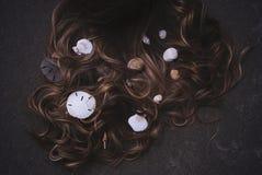 Cheveux de sirène image libre de droits