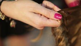 Cheveux sourcilleux et de tressages clips vidéos