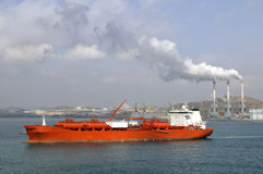 Chevical industry - chemical tanker stock images