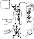 cheville à un réfrigérateur Photo libre de droits