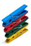 Cheville en bois colorée Photographie stock