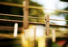 Cheville en bois de tissu Images stock