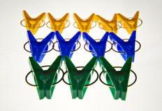 chevilles colorées photo stock
