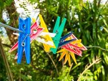 Chevilles colorées Image libre de droits