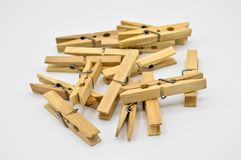 Chevilles en bois démodées naturelles photos libres de droits