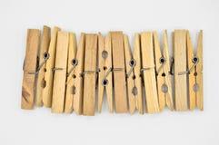 Chevilles en bois démodées naturelles photographie stock libre de droits