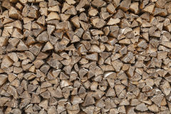 Chevilles en bois empilées Image libre de droits