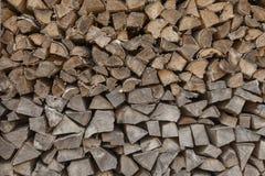 Chevilles en bois empilées Photo stock