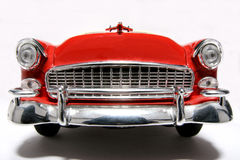 Chevrolet 1955 metal scale toy car fisheye front #2 Royalty Free Stock Photos