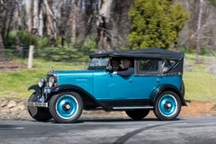 1929 Chevrolet AC Phaeton. Adelaide, Australia - September 25, 2016: Vintage 1929 Chevrolet AC Phaeton driving on country roads near the town of Birdwood, South Royalty Free Stock Photos