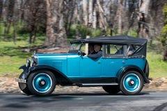 1929 Chevrolet AC Phaeton Phaeton driving on country road. Adelaide, Australia - September 25, 2016: Vintage 1929 Chevrolet AC Phaeton Phaeton driving on country Stock Photography