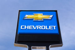 Chevrolet Automobile Dealership Sign Royalty Free Stock Photos