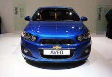 Chevrolet Aveo en la demostración de motor de París Imagenes de archivo
