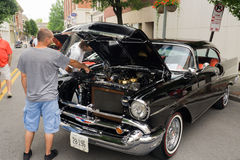 1957 Chevrolet-Bel Air Stock Foto's