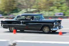 Chevrolet Bel Air in autocross Royalty Free Stock Photos