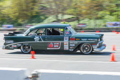 Chevrolet Bel Air in autocross Stock Photo