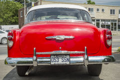 Chevrolet Bel Air 1953 back view Stock Image