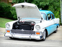 1956 Chevrolet Bel Air Blue and White Stock Images