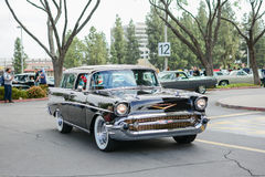 Chevrolet Bel Air classic car on display Royalty Free Stock Photo