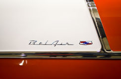 Chevrolet Bel Air Classic Car Emblem Stock Photo