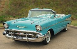 Chevrolet 1957 Bel Air Convertible Classic Car Image stock