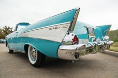 Chevrolet 1957 Bel Air Convertible Classic Car Images libres de droits
