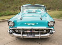 Chevrolet 1957 Bel Air Convertible Classic Car Photo stock