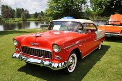 Chevrolet Bel Air dans le Car Show antique Image libre de droits