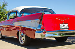 1957 Chevrolet Bel Air 2dr hardtop. A 1957 Chevrolet Bel Air 2dr hardtop is on display at the 3rd Annual Westlake Classic Car Show on October 19, 2013 in Stock Photo