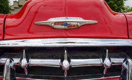 Chevrolet Bel Air 1953 font end close up Royalty Free Stock Photos