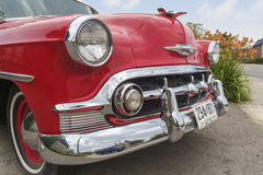 Chevrolet Bel Air 1953 front right view Royalty Free Stock Images