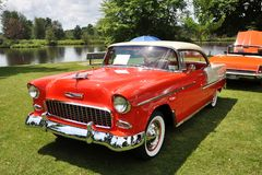 Chevrolet Bel Air In Antique Car Show Royalty Free Stock Image
